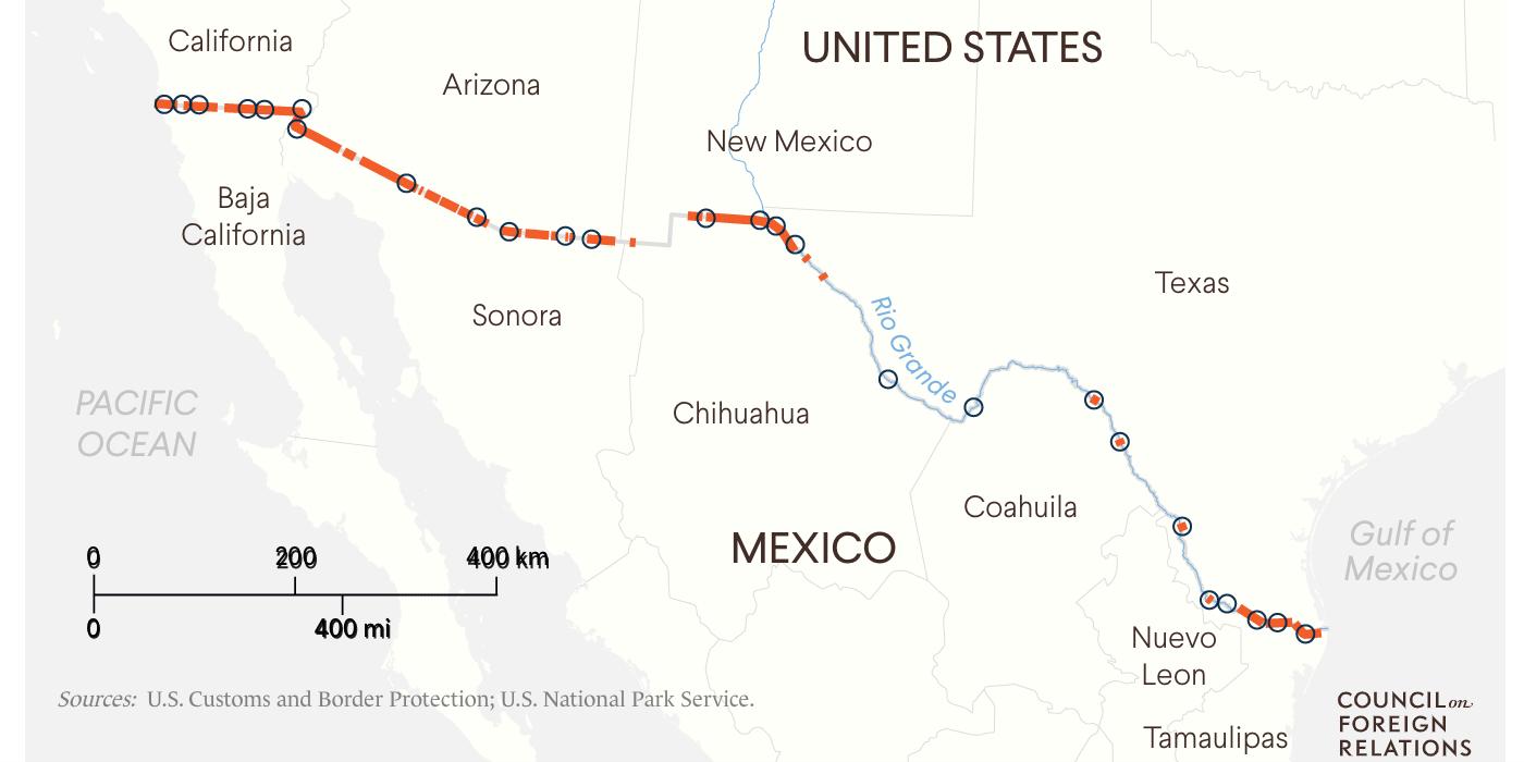 Coverage of U.S. Border